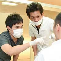 常駐歯科技工士が立ち会い